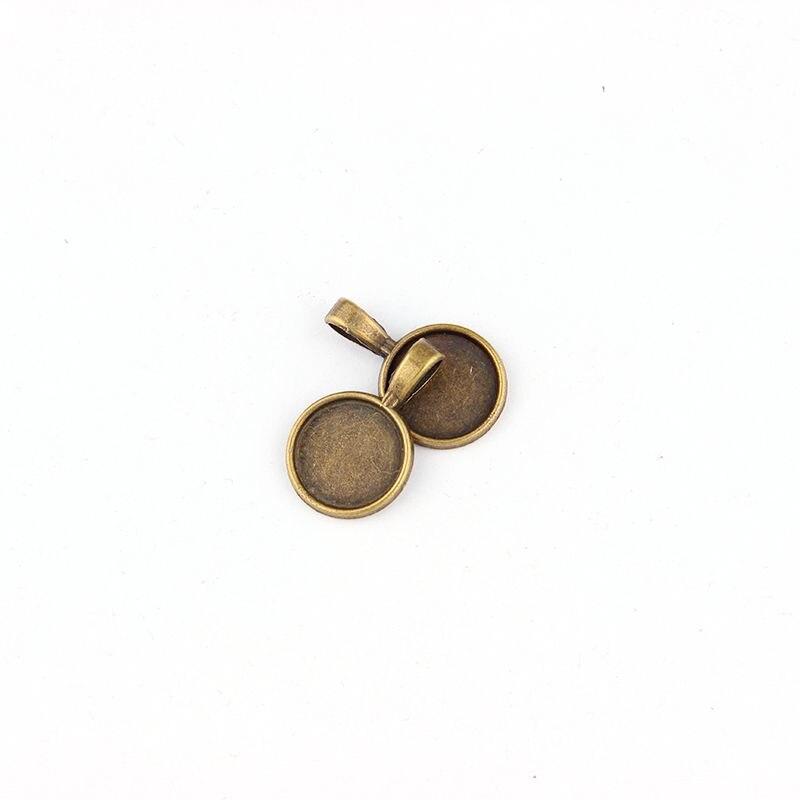 5PCS/lot Antique Filigree Round Cameo Cabochon Base Setting Pendant Tray(Fit 14*14mm) DIY Jewelry Blanks blank jewelry blank jewelry pendantsblank pendant trays - AliExpress
