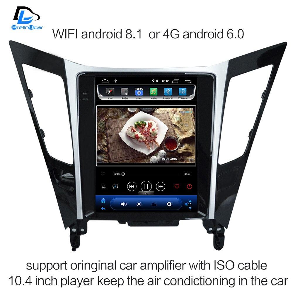 2G RAM Vertical da tela android 8.1 multimedia radio player no traço do gps do carro para a Sonata 8 2013- 2015 carro navigaton