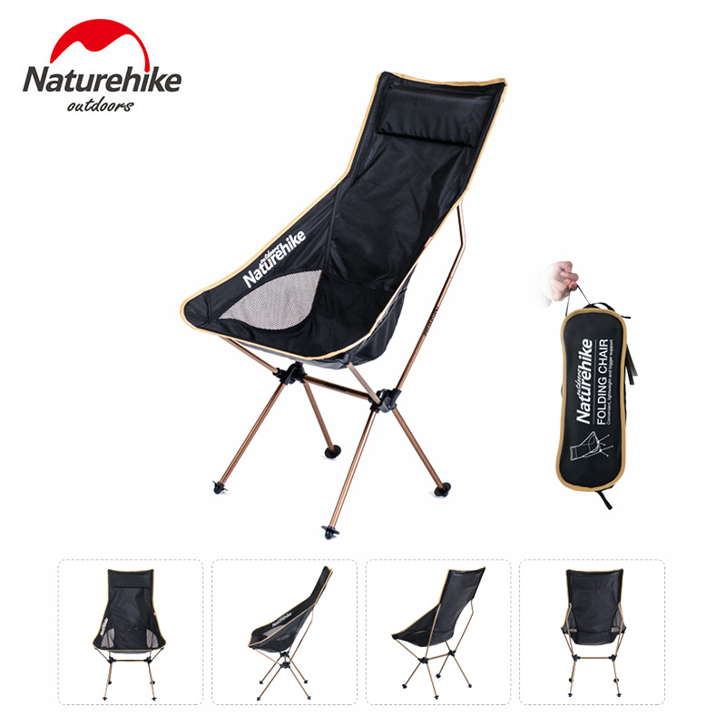 Naturehike Aluminum Foldable Camping Chairs Portable 2 Colors Hiking Picnic Barbecue Beach Vocation Fishing Chair naturehike portable fishing chair foldable 2 colors steel folding hiking picnic barbecue beach vocation camping chairs