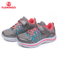 FLAMINGO 2018 orthotics function pig skin insole Hook&Loop breathable Spring girl sneaker separate box free shipping 81K YC 0603