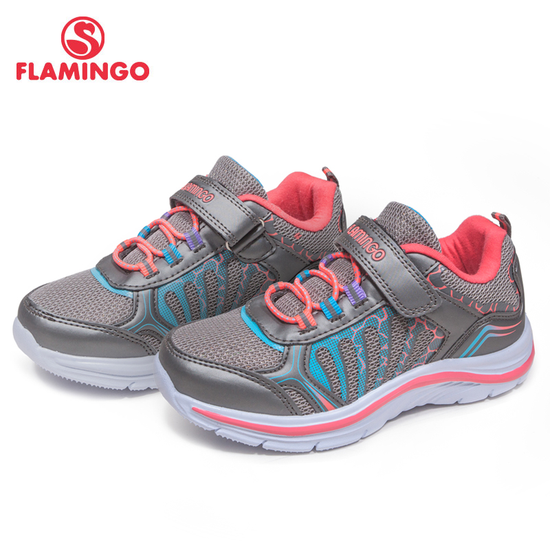 FLAMINGO Orthotics Function Pig Skin Insole Hook&Loop Breathable Spring Girl Sneaker Separate Box Free Shipping 81K-YC-0603