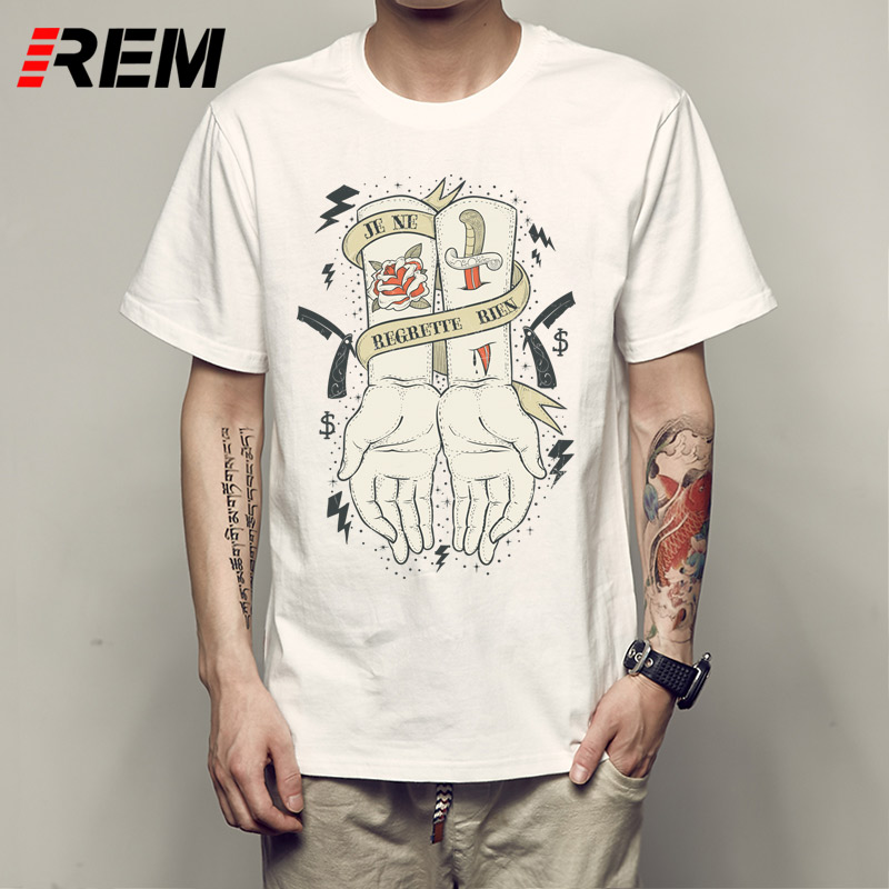 REM Summer Style Fashion Swag T Shirts Gildan MenS Short New Style Crew Neck Cartoon Hand Holding Weed Joint Tee Shirt