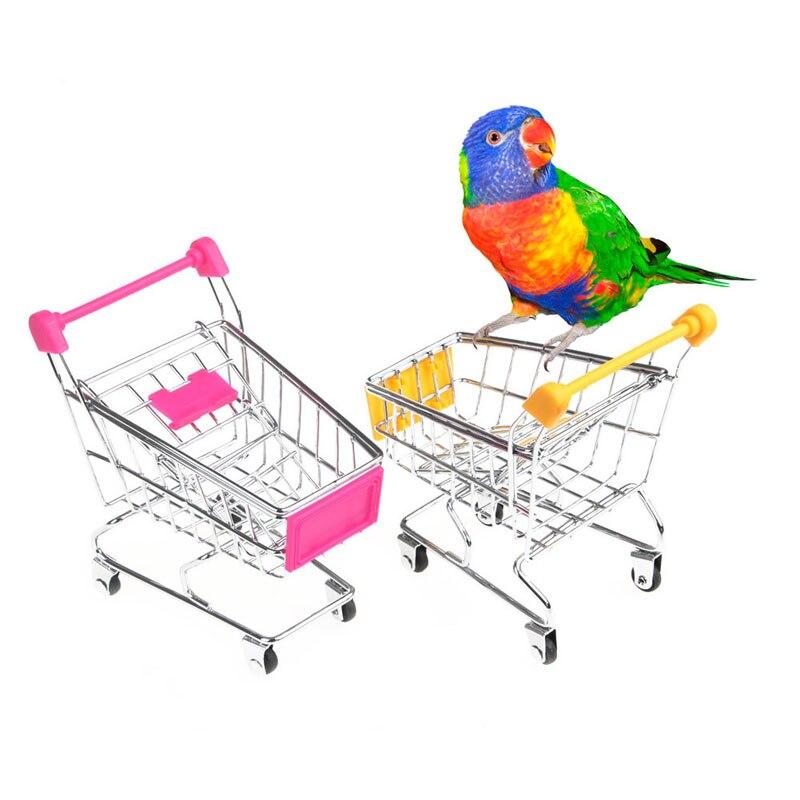 Training Smart Bird Parrot Toy Cute Pet Bird Toy Shopping Cart Parrot products