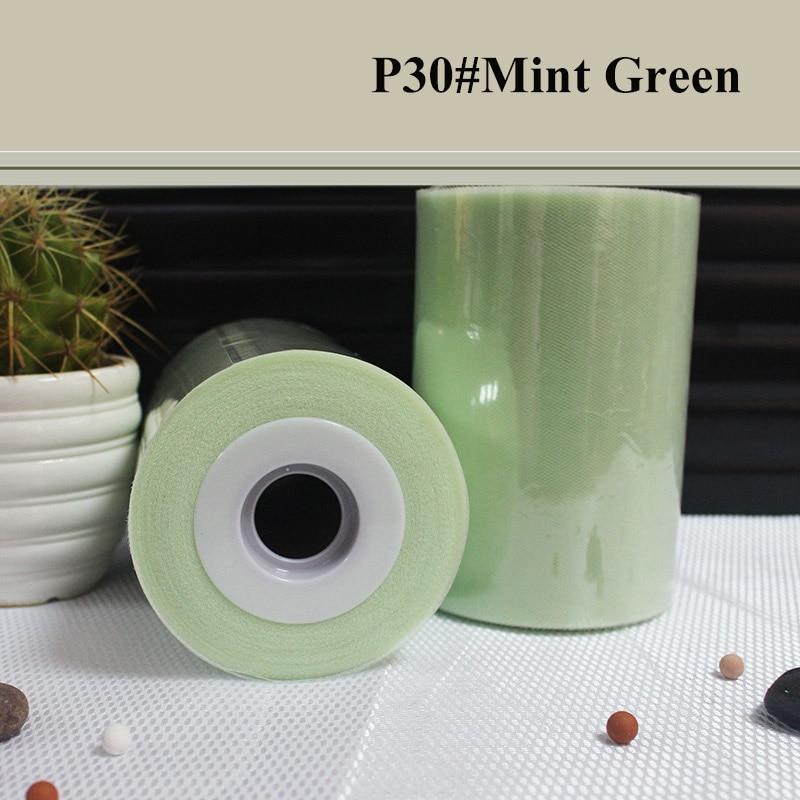 mintgroene kleur Polyester Tulle Roll 100yards Voor - Feestversiering en feestartikelen - Foto 1