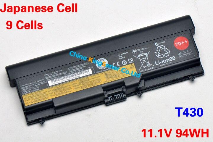Prix pour 94WH Japonais Cellulaire Nouvelle Batterie D'ordinateur Portable pour Lenovo ThinkPad T430 T430I T530 T530I W530 SL430 SL530 L430 45N1007 45N1006 9 Cellulaire