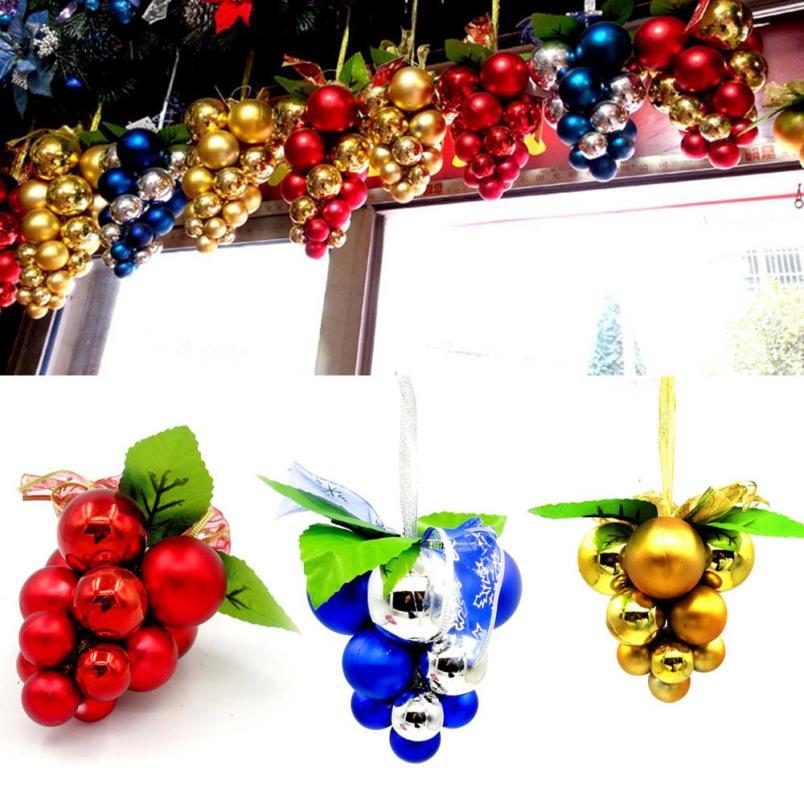 grape christmas ornaments christmas decorations for home tree hanging diy new year gift navidad party diy xmas decor