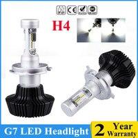 Big Power Luxeon ZES Chip H7 16000LM 100W LED Car Headlight Kit Turbo Light Bulbs CANBUS 6000K H7 H4 H11 Front Head Bulbs Lamp