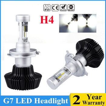 Big Power Luxeon ZES Chip H7 16000LM 100W LED Car Headlight Kit Turbo Light Bulbs CANBUS 6000K H7 H4 H11 Front Head Bulbs Lamp image