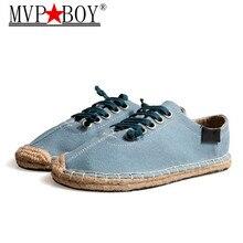 f560cb84c MENINO MVP Sapatos das Mulheres, Estilo Folk, antigos Sapatos de Pano,  Tecido Sapatos de Palha de linho, respirável Lazer Sapato.