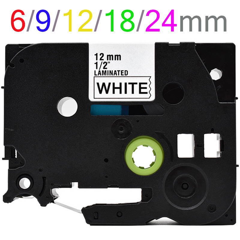 Multi colors Tze231 Label Tape Compatible for Brother P Touch printer Tze tapes Tze 231 tze