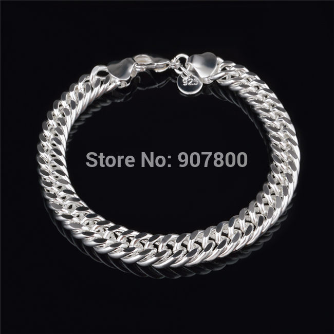 Cheap wholesale 10mmx20cm silver figaro link bracelet for Best mens jewelry sites
