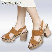 plus size 34-43 Women High Heels Summer Fashion Buckle Female Sandals open toe comfortable Platform Shoes Woman wedges Casual timetang summer women shoes woman fashion genuine leather open toe sandals ladies casual platform wedges plus size sandals c213