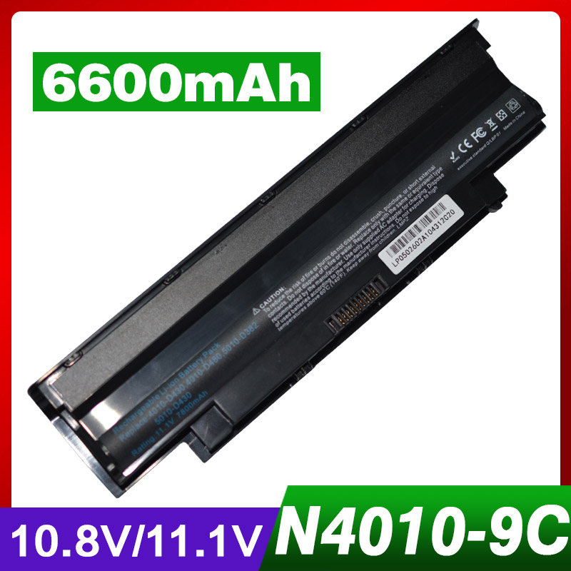6600mAh Laptop Battery for Dell Inspiron N5110 N7110 J1KND 13R 14R N3010 N4010 N4010D N5010 N7010 N4050 N5010D N3110 N4110 9T48V