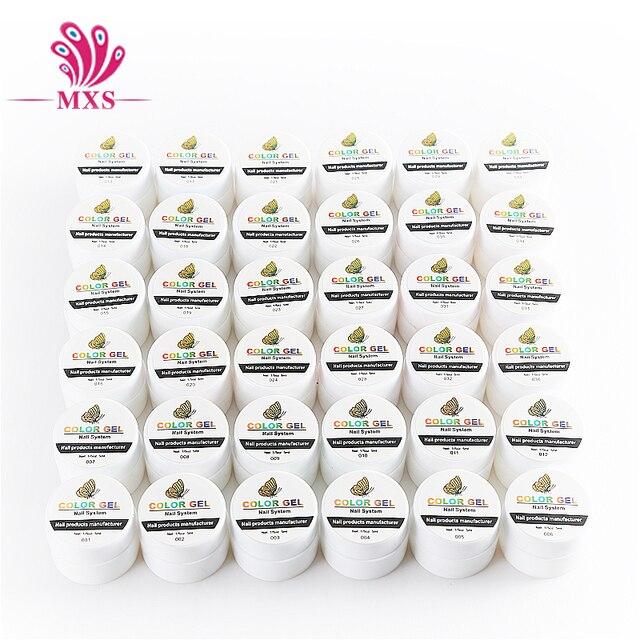36 Solide Couleur 5 ml UV Gel DIY Décoration pour Nail Art Conseils UV Couleur Gel Manucure Gel Vernis À Ongles Extension 2