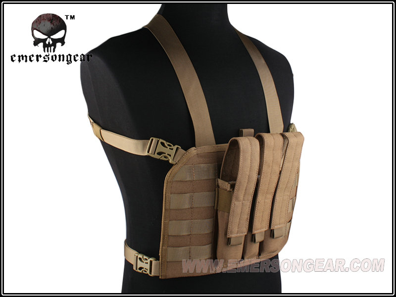 ФОТО EMERSON MP7 Tactical Chest Rig Airsoft Gear VEST 1000D CORDURA Coyote Brown 7445D