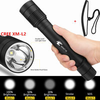 WANTYE 100M Diving flashlight 6000LM 5 Modes LED Diver Torch lamp XM L2 L2 LED Flashlamp lanterna 18650 26650 Underwater light