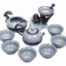 Ge kiln чайный набор в китайском стиле домашний офисный керамический