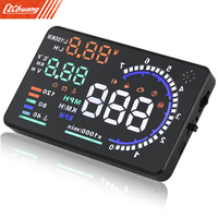 A8 5.5 pulgadas OBD II Car HUD Head Up Display con Fatiga Advertencia RPM MPH de Velocidad Consumo de Combustible