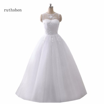 ruthshen bola vestidos de novia barato 2018 real foto vestidos boda