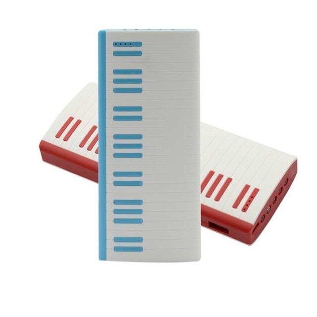 O envio gratuito de encargos De Piano em forma de 12000 mah bancos de energia USB portátil de plástico com 5 LED luz