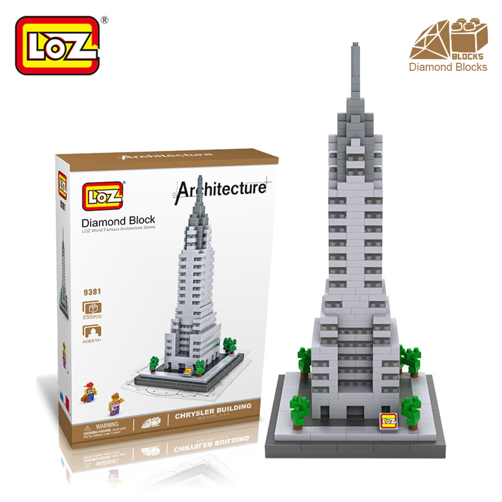 Mr.Froger LOZ Chrysler Building Diamond Block World Famous Architecture New York USA Toy Bricks Building Blocks House City Tower loz mini diamond building block world famous architecture nanoblock easter island moai portrait stone model educational toys