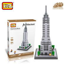 Mr.Froger LOZ Chrysler Building Diamond Block World Famous Architecture New York USA Toy Bricks Building Blocks House City Tower