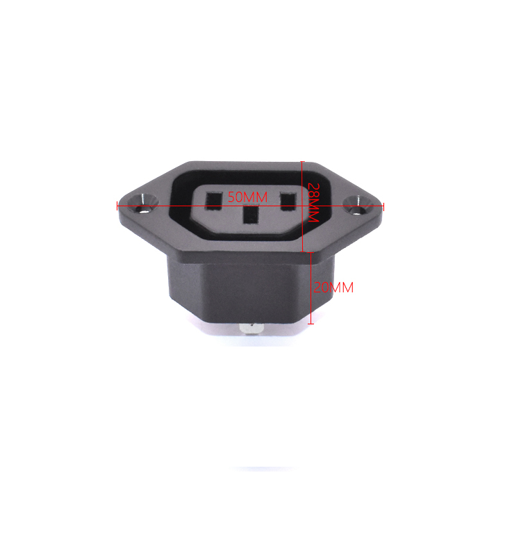 10Pcs AC 06 AC Power Socket shaped three prong power Outlet With Products Deck 15A 250V in Electrical Plug from Consumer Electronics