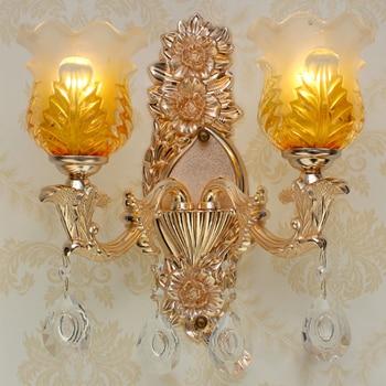 Luxury Wall Lighting Living Room Gold Wall Light Crystal Wall Lamp Aisle Stair Zinc Alloy Wall Lamp Hotel Bathroom Mirror Light