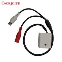 Evolylcam мини аудио Микрофон для DVR камера наблюдения системный кабель CCTV Микрофон звуковое сигнальное устройство широкий диапазон Высокочувствительный