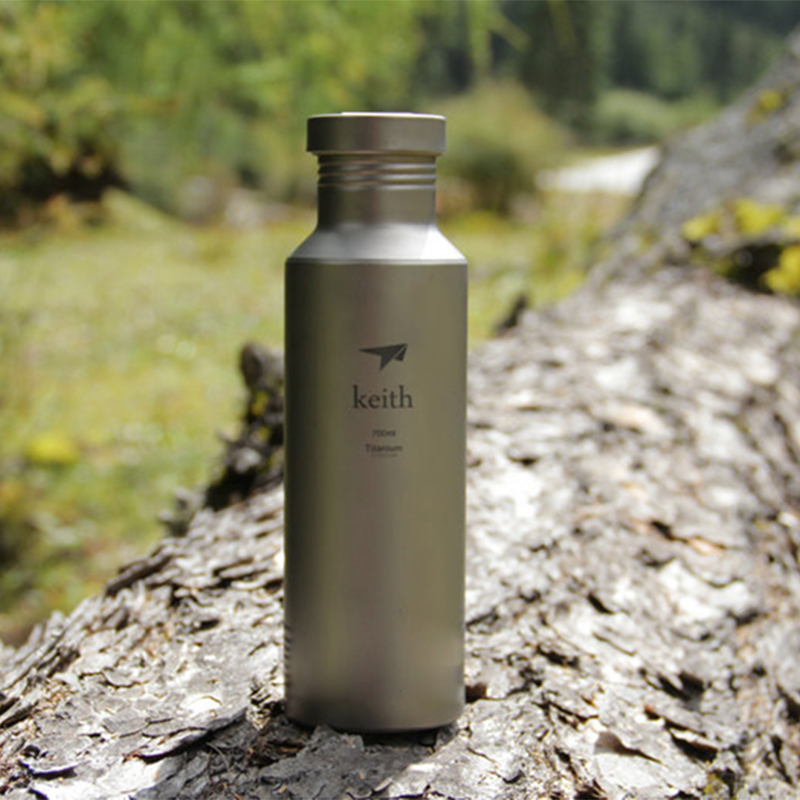 700ml Keith Titanium Bottle Portable Outdoor Camping Cycling Hiking Sports Kettle Bacteriostatic Function Ultralight 113g Ti32 цена