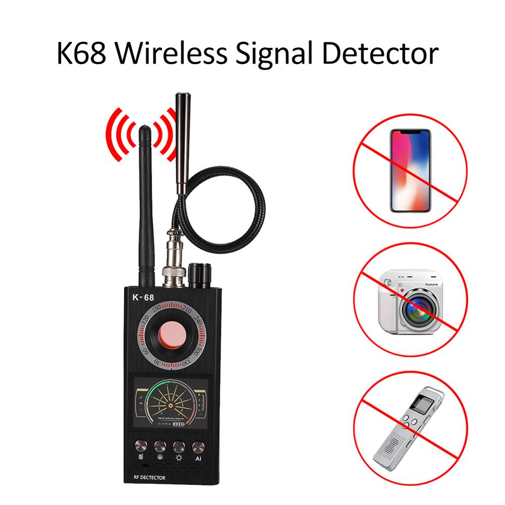 Hot K68 Wireless Signal Detector RF Bug Finder Anti Spy Bug Detector Anti Candid Camera GPS Tracker Locator Protect Security New