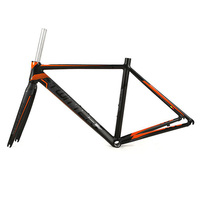 Road Bike Frame 700C Wheel Racing bicycle frame Aluminium alloy road Frame 46/48/50/52CM+carbon Fork