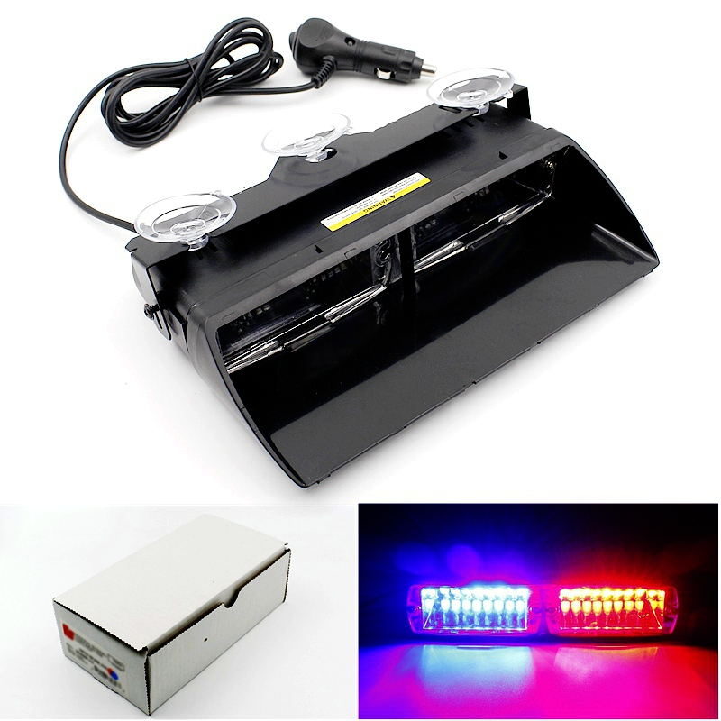 set of 16 led strobe lights flash emergency flash warning light car. Black Bedroom Furniture Sets. Home Design Ideas