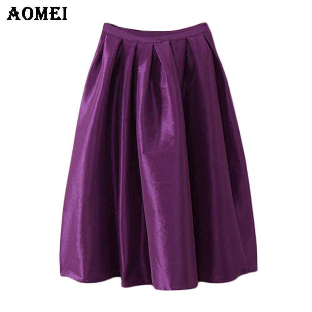 4XL 5XL High Waist faldas largas y shorts Skirt Women Long Summer Style Jupe White Midi Skirt Yellow Purple Midi faldas Longa Skirts for Girls Kilt workwear Skrit falda pantalon