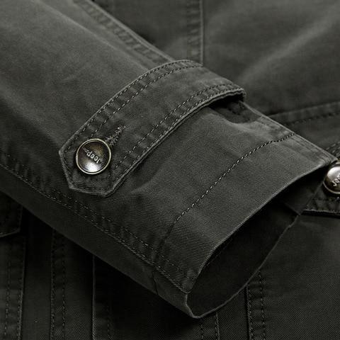 Plus Size 5XL Military Style Men Blazer Spring Autumn Cotton Casual Blazer Masculino Multi-pocket Mens Suit Jacket Blazers homme Islamabad