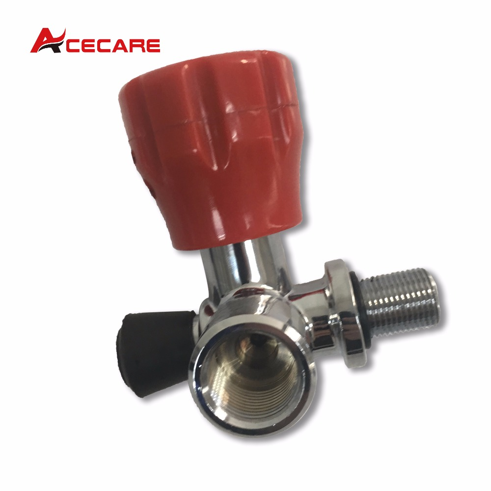 цена на Hot sale! SCUBA Red Valve Thead M18*1.5 for PCP rifle/ Paintball tank/gas cylinder use 4500Psi gas cylinder valve -V