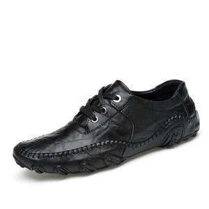 Image 3 - موضة النمط البريطاني الرجال حذاء كاجوال المتسكعون جلد أصلي للرجال أحذية في الهواء الطلق أحذية من الجلد الرجال أحذية الشتاء zapatos hombre
