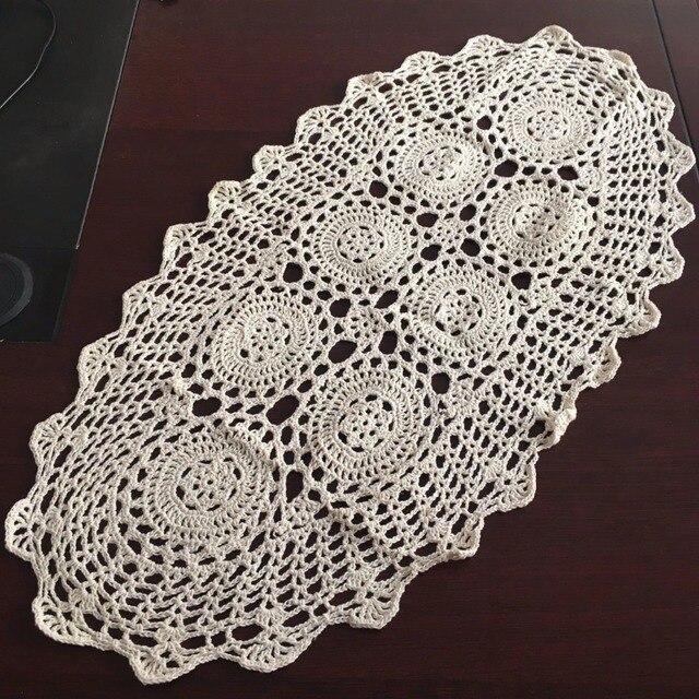 Thuis Textiel Hand Haak Tafel Kleedje Rustieke Bloemen Patroon