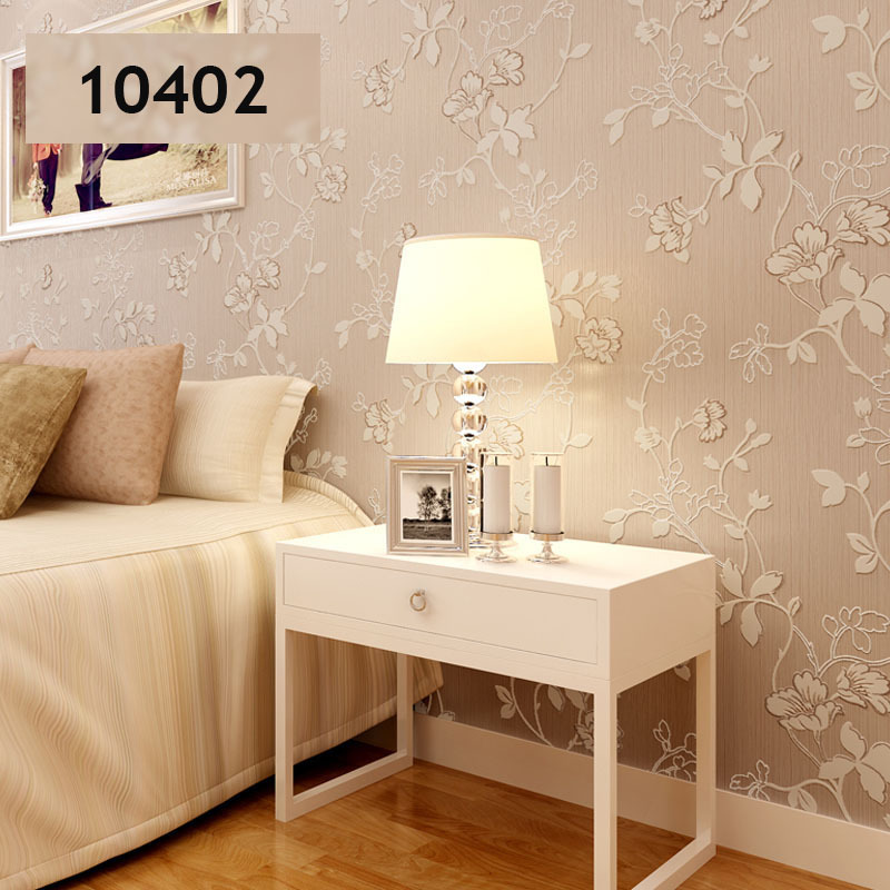 Floral Wallpaper Roll 3d Flocking Textured For Living Room Sofa Tv Background Wall Paper Home
