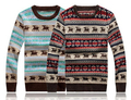 men casual o-neck pullover Christmas deer sweaters red & blue man knitted sweater male clothing mens pullovers sweater MWS004