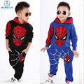 2016 Kids Spiderman Hoodies Boy Suit Sweater+Harem Pants Suit Of Leisure Sports Suit Children's Clothes roupas infants meninas