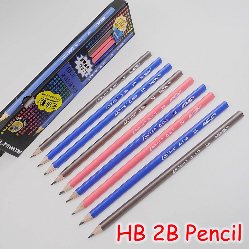 ツ)_/¯[MARCO] (12 unids/lote) alta calidad HB 2B lápiz de madera ...