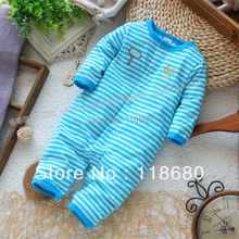 Free shipping new 2016 spring autumn baby clothing newborn Baby boy striped long-sleeve romper baby jumpsuit kids overalls
