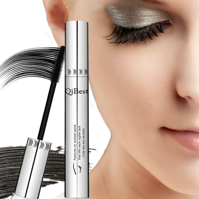 Qibest 24 Hours Mascara Brand New Makeup Mascara Volume Express False Eyelashes Make Up Waterproof Eyes Mascara Black 2