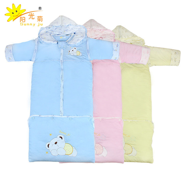ФОТО Sunny Jv 0-3 Year-old Baby Autumn and Winter Baby Thickening Long Sleeping Bag, Removable Sleeve Cap Bag