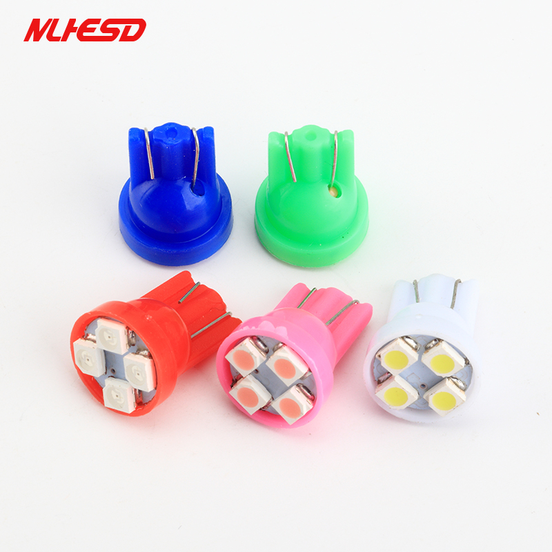 Car Auto Instrument Lamp T10 12104 SMD T10 Wedge 4-SMD LED Light Dashboard W4N8