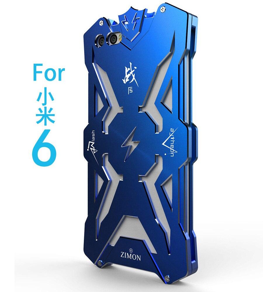 Zimon оригинальный бренд Алюминий металлический бампер для Xiaomi 6 чехол противоударный Рамка чехол для mi6 телефон Чехол