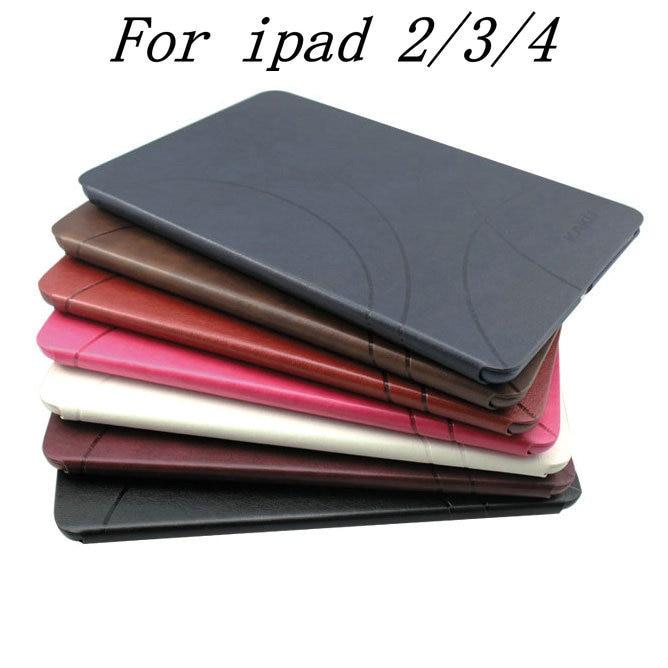 все цены на Original  Retro Leather Case for iPad 4 3 2 Stand Design Smart Magnetic Cover luxury Utrathin Smartcover for iPad4 iPad3/2 онлайн