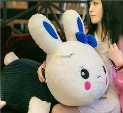 Fancytrader 30 ''/75 cm Leuke Grote Gevulde Zachte Pluche Giant Leuke Liggen Konijn Bunny Speelgoed, 2 Kleuren Beschikbaar, gratis Verzending FT50837