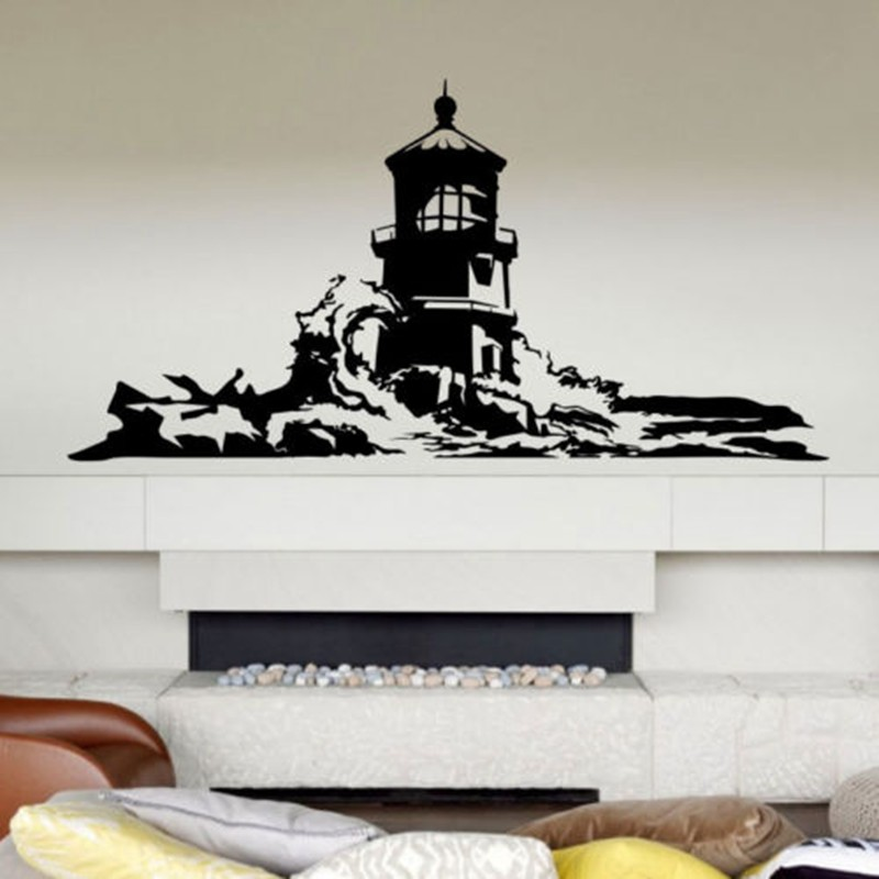 Large Lighthouse Wall Stickers Lighthouse Wall Decal ...
